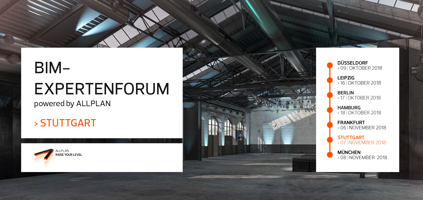 BIM-Expertenforum 2018 Stuttgart | powered by ALLPLAN