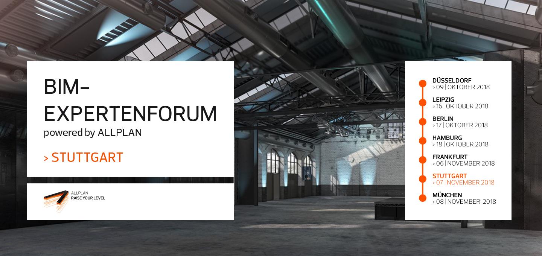 BIM-Expertenforum 2018 Stuttgart | powered by ALLPLAN