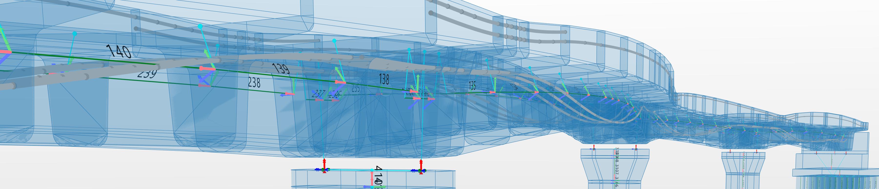 Análisis estructural en Allplan Bridge.